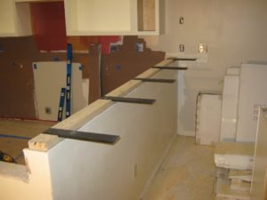 Granite countertop support brackets granite countertop info for Granite countertops support requirements