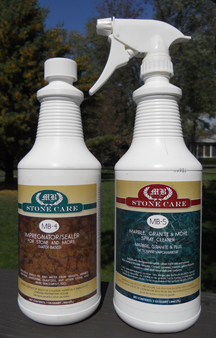 Granite cleaner, granite sealer, and granite soap film remover