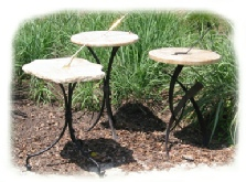 granite sundials with steel bases